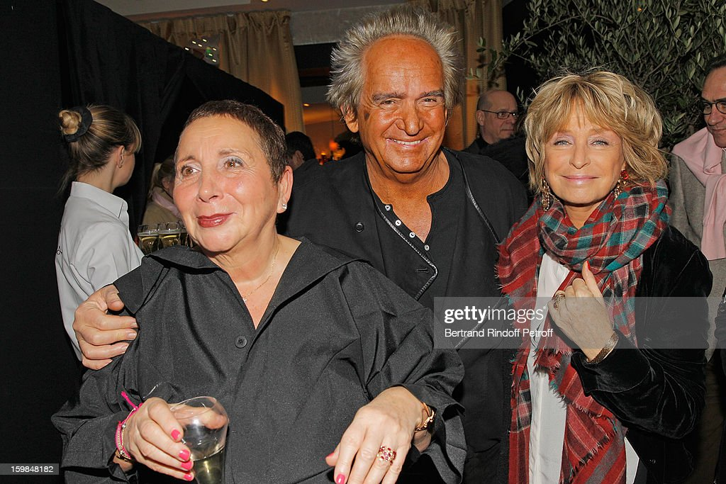 Nicole Rubi, Albert Koski and his wife Daniele Thompson attend 'La Petite Maison De Nicole' Inauguration Cocktail at Hotel Fouquet's Barriere on January 21, 2013 in Paris, France.