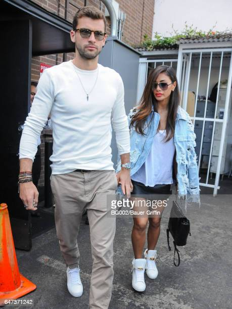 Nicole Scherzinger and Grigor Dimitrov are seen on March 02 2017 in Los Angeles California