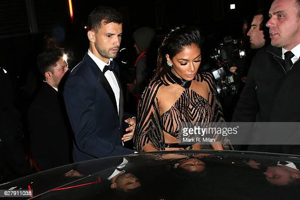 Nicole Scherzinger and Grigor Dimitrov attending the British The Fashion Awards 2016 on December 5 2016 in London England