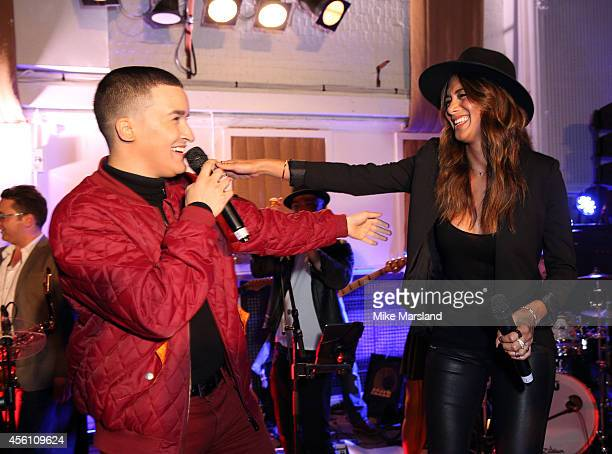 Nicole Scherzinger and Jahmene Douglas attends One For The Boys #SingOne4TheBoys Karaoke Night at Abbey Road Studios on September 25 2014 in London...