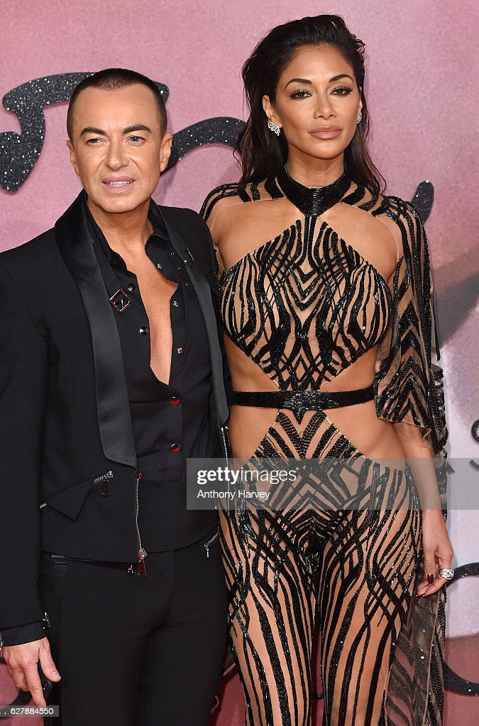 Nicole Scherzinger and Julien MacDonald attend The Fashion Awards 2016 on December 5, 2016 in London, United Kingdom.