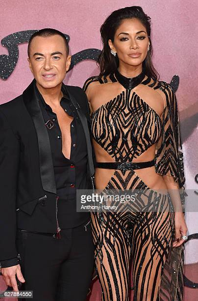 Nicole Scherzinger and Julien MacDonald attend The Fashion Awards 2016 on December 5 2016 in London United Kingdom
