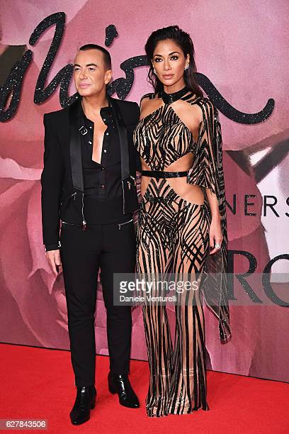 Nicole Scherzinger and Julien MacDonald attends The Fashion Awards 2016 on December 5 2016 in London United Kingdom