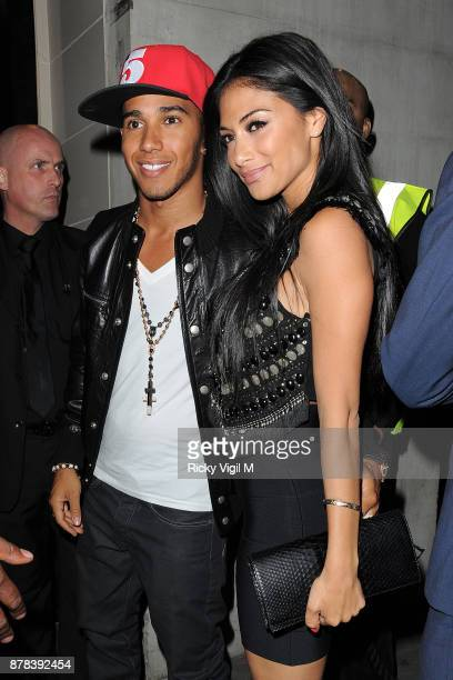 Nicole Scherzinger and Lewis Hamilton seen on a night out at DSTRKT club on June 29 2012 in London England