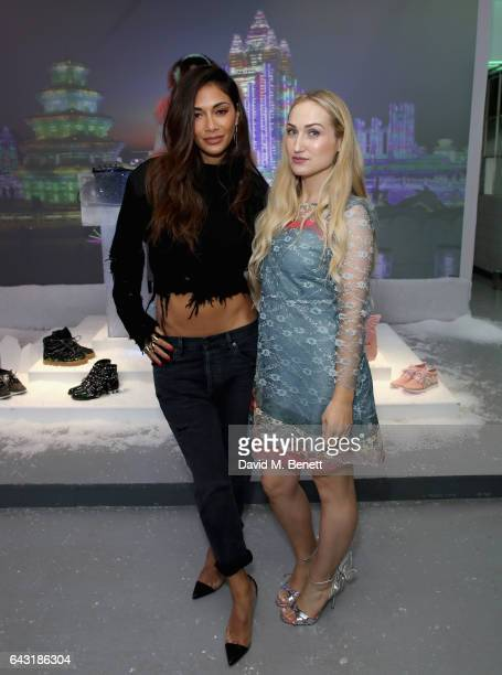 Nicole Scherzinger and Sophia Webster attend the Sophia Webster AW17 Presentation on February 20 2017 in London United Kingdom