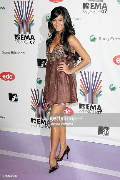 Nicole Scherzinger arrives at the 14th annual MTV Europe Music Awards 2007 held at the Olympiahalle on November 1 2007 in Munich Germany
