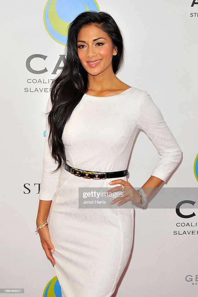 Nicole Scherzinger arrives at the Coalition To Abolish Slavery and Trafficking's 15th Annual From Slavery to Freedom gala at the Sofitel Hotel on May 9, 2013 in Los Angeles, California.