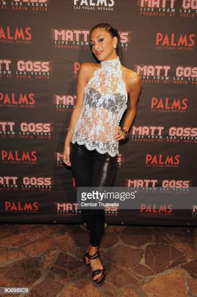 Nicole Scherzinger arrives at the grand opening of the 'Matt Goss Live From Las Vegas' show at The Palms Casino Resort on September 12 2009 in Las...