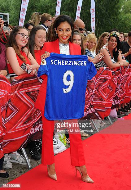 Nicole Scherzinger arrives for the first X Factor auditions of 2016 on June 10 2016 in Leicester United Kingdom