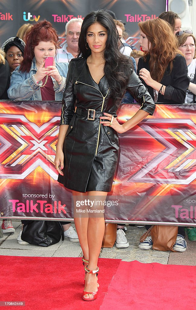 <a gi-track='captionPersonalityLinkClicked' href=/galleries/search?phrase=Nicole+Scherzinger&family=editorial&specificpeople=678971 ng-click='$event.stopPropagation()'>Nicole Scherzinger</a> arrives for the London auditions of 'The X Factor' at ExCel on June 19, 2013 in London, England.