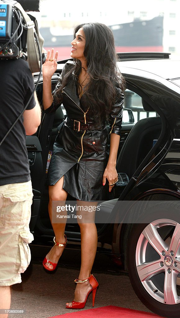 Nicole Scherzinger arrives for the London auditions of 'The X Factor' at ExCel on June 19, 2013 in London, England.