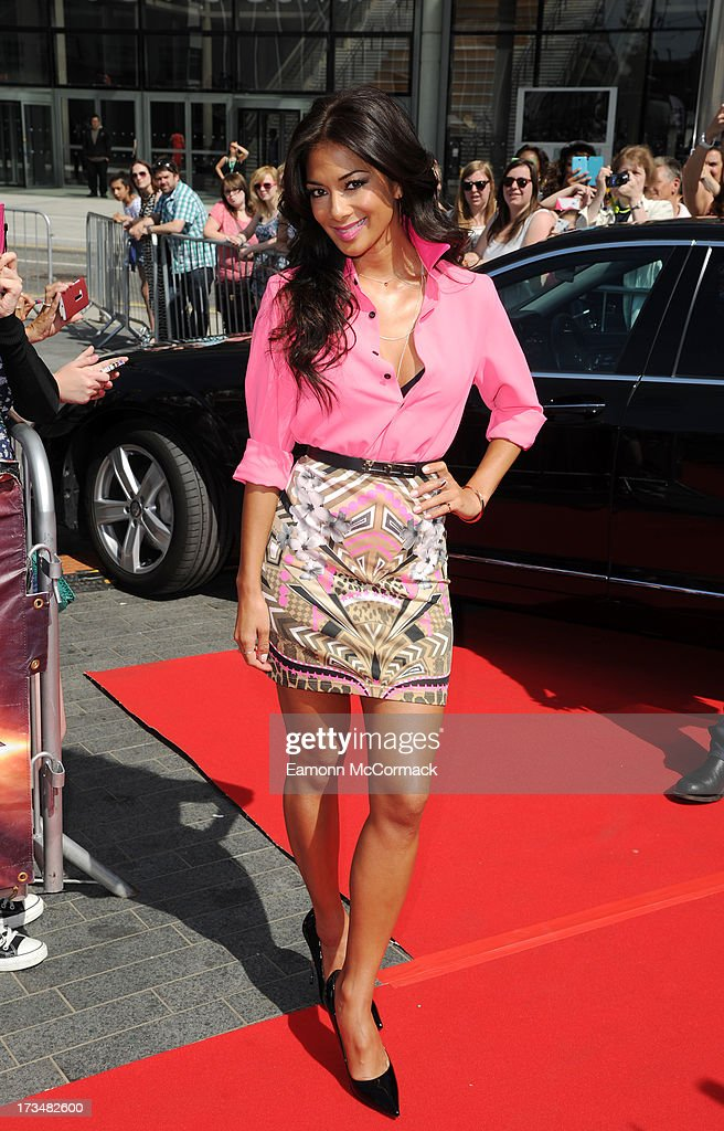 <a gi-track='captionPersonalityLinkClicked' href=/galleries/search?phrase=Nicole+Scherzinger&family=editorial&specificpeople=678971 ng-click='$event.stopPropagation()'>Nicole Scherzinger</a> arrives for the London auditions of The X Factor at Wembley Arena on July 15, 2013 in London, England.