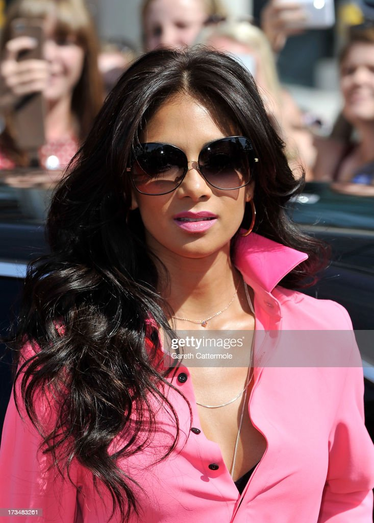 Nicole Scherzinger arrives for the London auditions of The X Factor at Wembley Arena on July 15, 2013 in London, England.