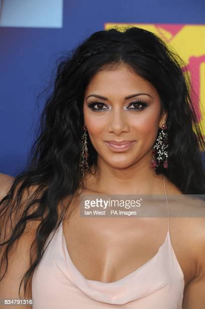 Nicole Scherzinger arrives for the MTV Video Music Awards 2008 at Paramount Studios Hollywood Los Angeles California
