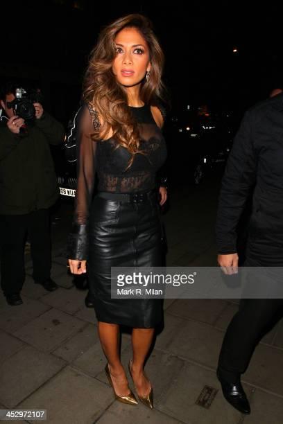 Nicole Scherzinger arriving at C restaurant on December 1 2013 in London England