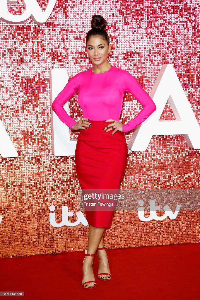 Nicole Scherzinger arriving at the ITV Gala held at the London Palladium on November 9, 2017 in London, England.