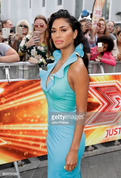 Nicole Scherzinger arriving at The X Factor Bootcamp auditions at Wembley Arena on July 21 2017 in London England