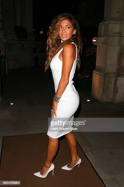 Nicole Scherzinger at C London restaurant on June 11 2014 in London England