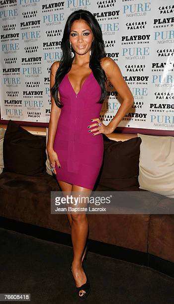 Nicole Scherzinger attends an Evening at PURE Nightclub hosted by Nicole Scherzinger with Playboy Energy Drink