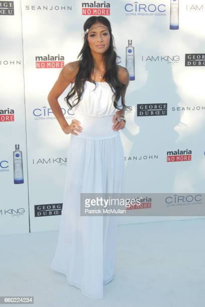 "Nicole Scherzinger attends SEAN ""DIDDY"" COMBS HOSTS THE ANNUAL WHITE PARTY IN LOS ANGELES at Private Residence on July 4 2009 in Beverly Hills..."