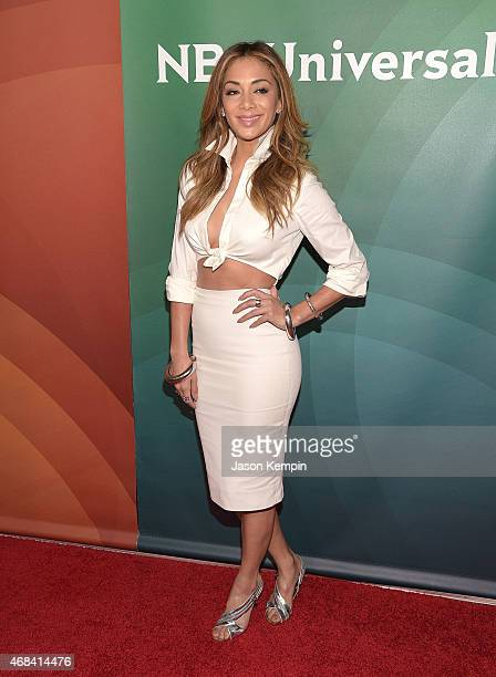 Nicole Scherzinger attends the 2015 NBCUniversal Summer Press Day at the Langham Hotel on April 2 2015 in Pasadena California