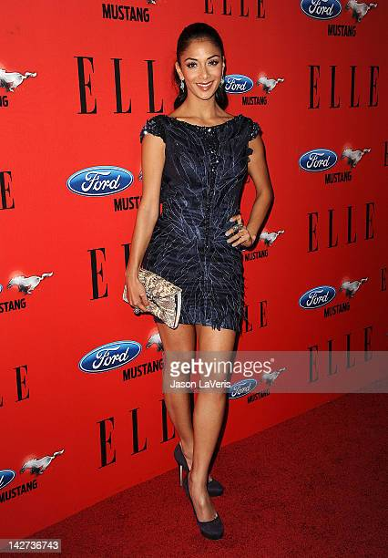 Nicole Scherzinger attends the 3rd annual ELLE Women In Music event at Avalon on April 11 2012 in Hollywood California