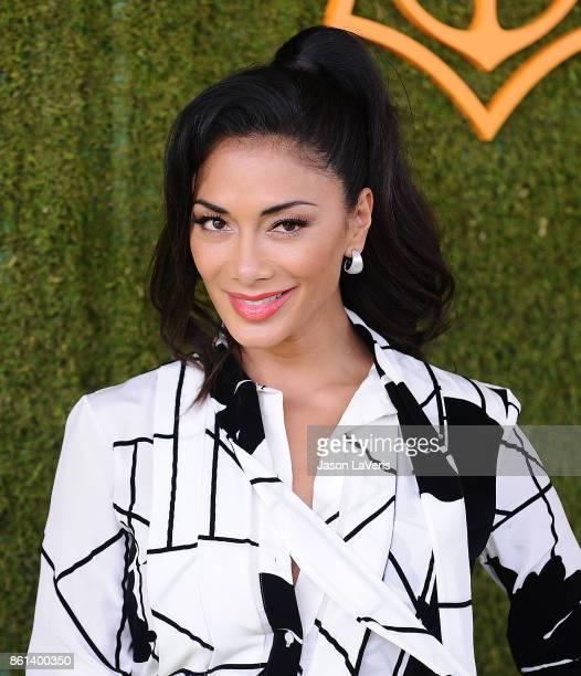 Nicole Scherzinger attends the 8th annual Veuve Clicquot Polo Classic at Will Rogers State Historic Park on October 14 2017 in Pacific Palisades...
