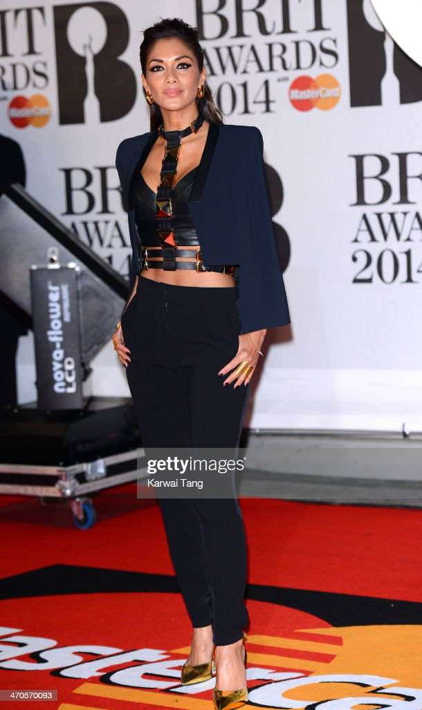 <a gi-track='captionPersonalityLinkClicked' href=/galleries/search?phrase=Nicole+Scherzinger&family=editorial&specificpeople=678971 ng-click='$event.stopPropagation()'>Nicole Scherzinger</a> attends The BRIT Awards 2014 at 02 Arena on February 19, 2014 in London, England.