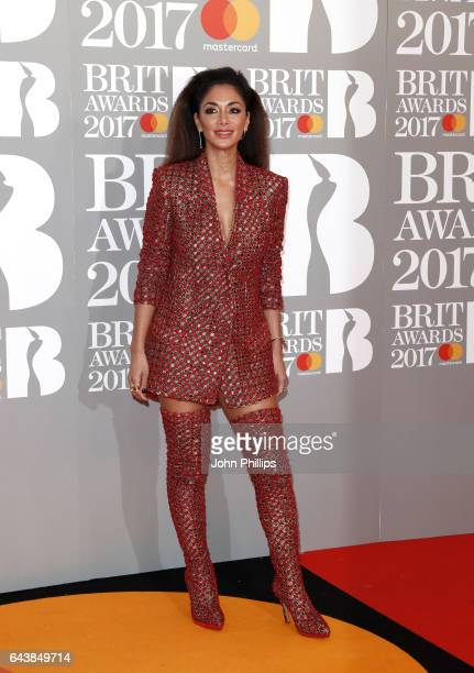 Nicole Scherzinger attends The BRIT Awards 2017 at The O2 Arena on February 22 2017 in London England