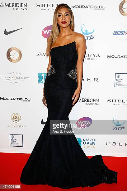 Nicole Scherzinger attends the Champ'Seed party on May 19 2015 in Monaco Monaco