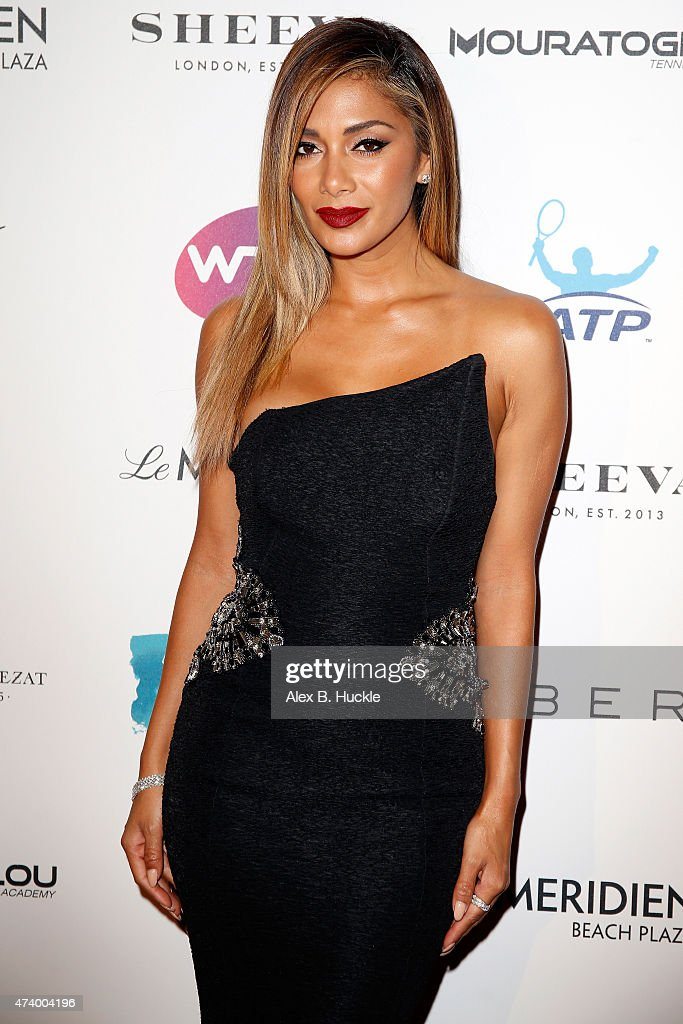 Nicole Scherzinger attends the Champ'Seed party on May 19, 2015 in Monaco, Monaco.