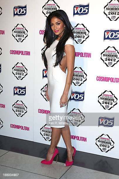 Nicole Scherzinger attends the Cosmopolitan Ultimate Woman of the Year awards at Victoria Albert Museum on October 30 2012 in London England