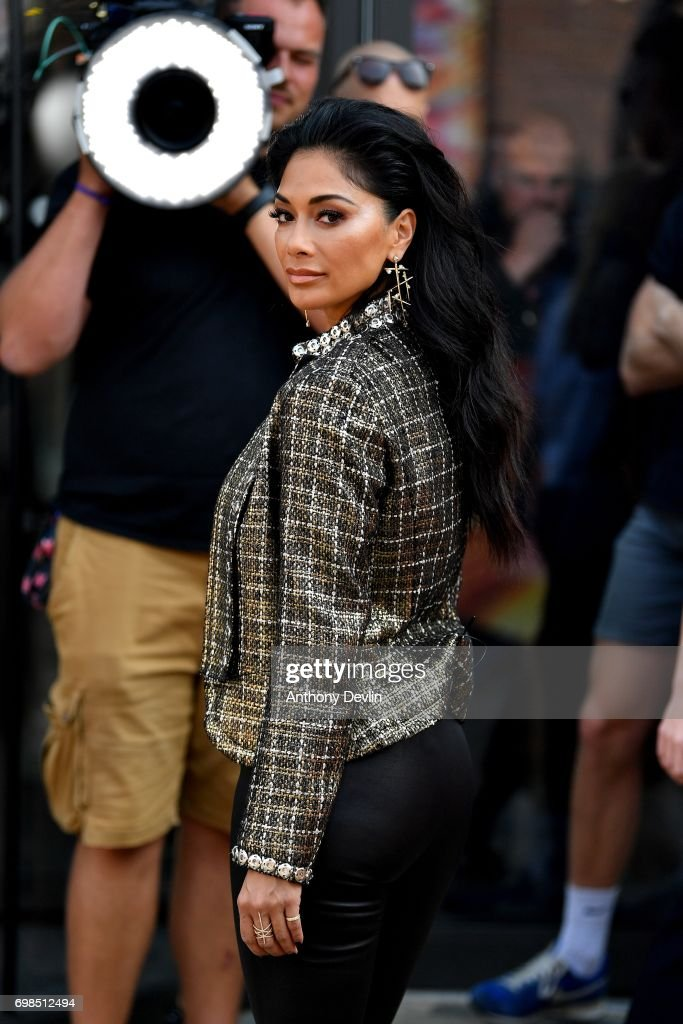 Nicole Scherzinger attends the first day of auditions for the X Factor at The Titanic Hotel on June 20, 2017 in Liverpool, England.
