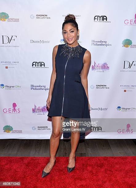 Nicole Scherzinger attends the GEMS' 2015 Love Revolution Gala at Pier 59 on October 15 2015 in New York City