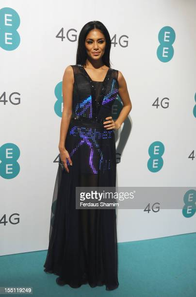 Nicole Scherzinger attends the launch of EE Britain's first 4G mobile network at Battersea Power station on November 1 2012 in London England
