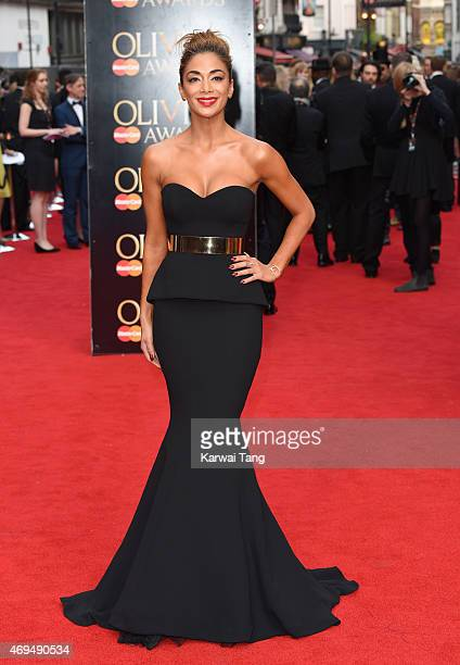 Nicole Scherzinger attends The Olivier Awards at The Royal Opera House on April 12 2015 in London England