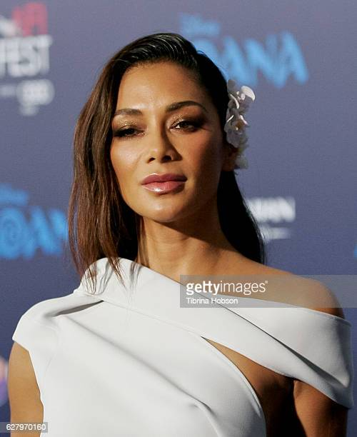 Nicole Scherzinger attends the premiere of Disney's 'Moana' at AFI FEST 2016 at the El Capitan Theatre on November 14 2016 in Hollywood California