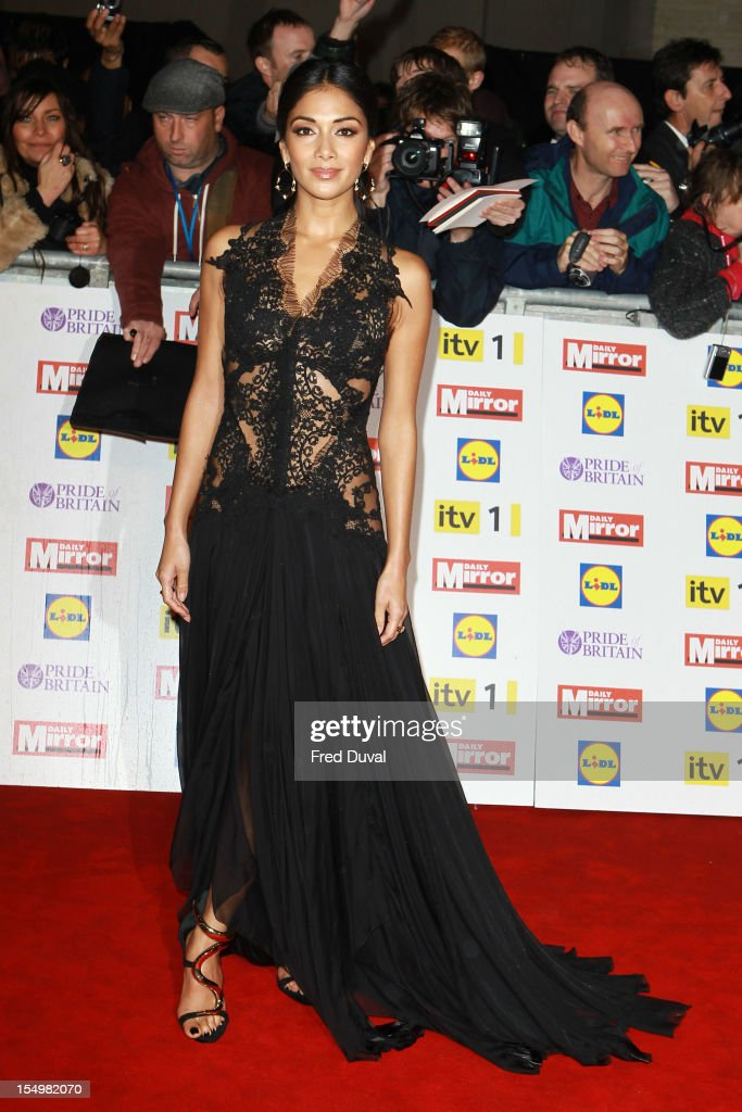 <a gi-track='captionPersonalityLinkClicked' href=/galleries/search?phrase=Nicole+Scherzinger&family=editorial&specificpeople=678971 ng-click='$event.stopPropagation()'>Nicole Scherzinger</a> attends the Pride Of Britain awards at Grosvenor House, on October 29, 2012 in London, England.