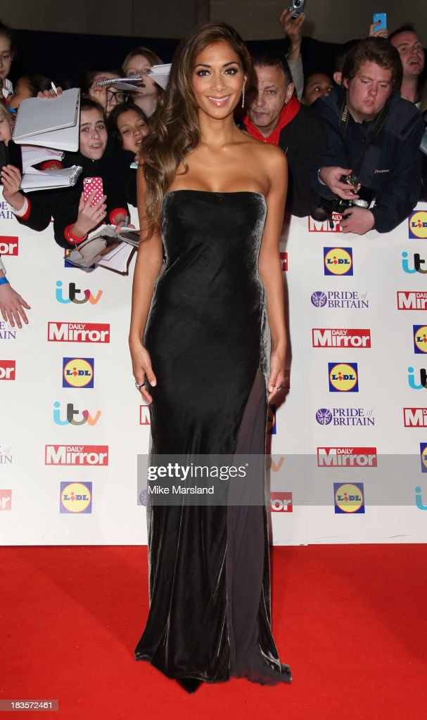 Nicole Scherzinger attends the Pride of Britain awards at Grosvenor House, on October 7, 2013 in London, England.