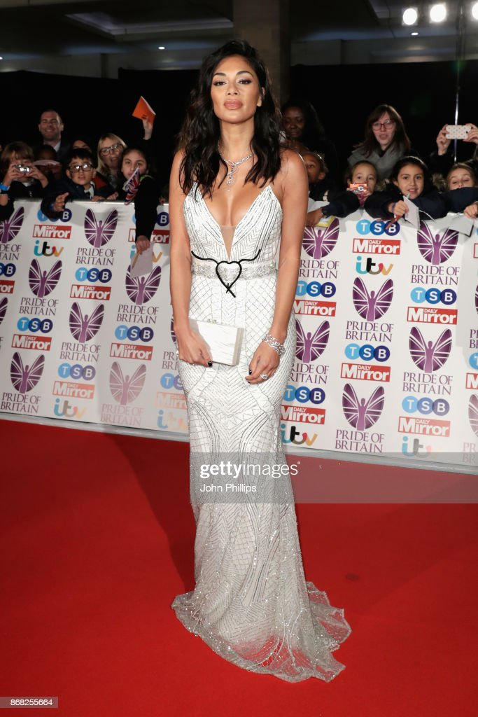 Nicole Scherzinger attends the Pride Of Britain Awards at Grosvenor House, on October 30, 2017 in London, England.