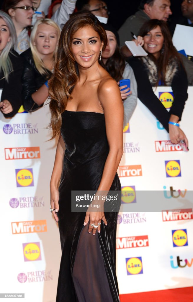 <a gi-track='captionPersonalityLinkClicked' href=/galleries/search?phrase=Nicole+Scherzinger&family=editorial&specificpeople=678971 ng-click='$event.stopPropagation()'>Nicole Scherzinger</a> attends the Pride of Britain awards at the Grosvenor House, on October 7, 2013 in London, England.