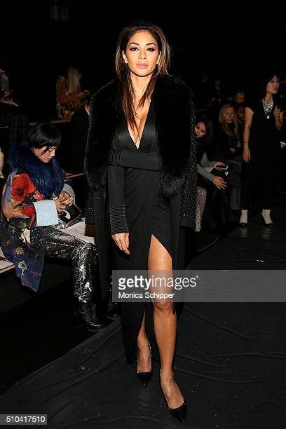 Nicole Scherzinger attends the Thomas Wylde Fall 2016 fashion show during New York Fashion Week The Shows at The Dock Skylight at Moynihan Station on...