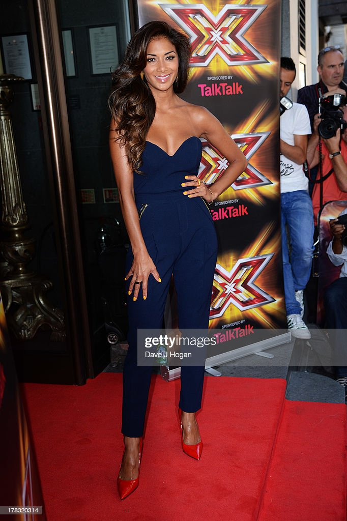 Nicole Scherzinger attends The X Factor press launch at The Mayfair Hotel on August 29, 2013 in London, England.