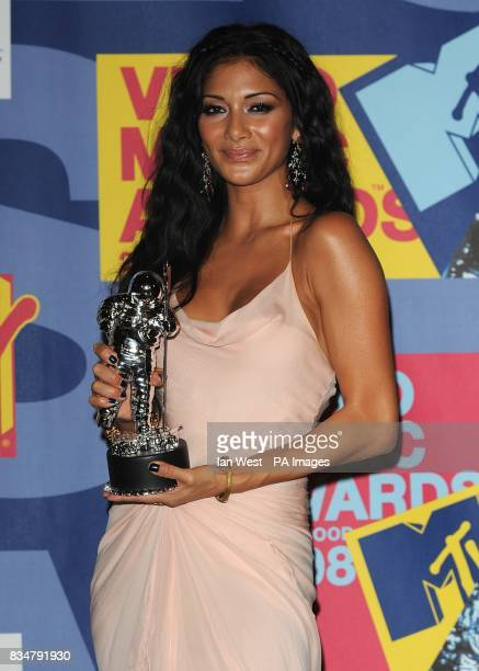 Nicole Scherzinger backstage at the MTV Video Music Awards 2008 at Paramount Studios Hollywood Los Angeles California