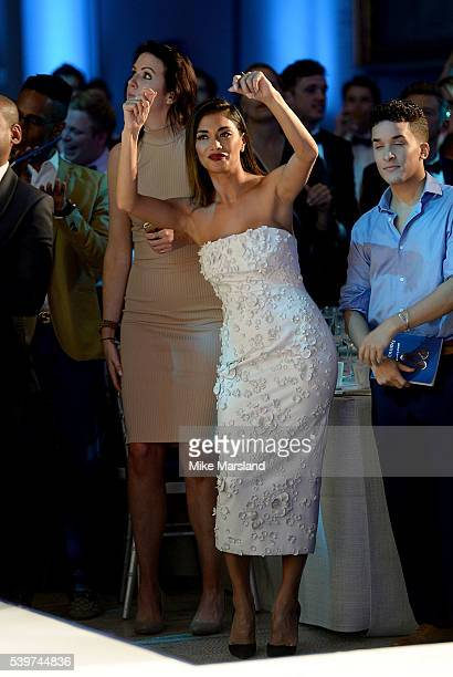 Nicole Scherzinger dances to Tinie Tempah at the One For The Boys Fashion Ball at The VA on June 12 2016 in London England