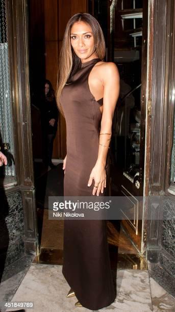 Nicole Scherzinger is seen arriving at Mr Chow restaurant Knightsbridge on November 24 2013 in London England