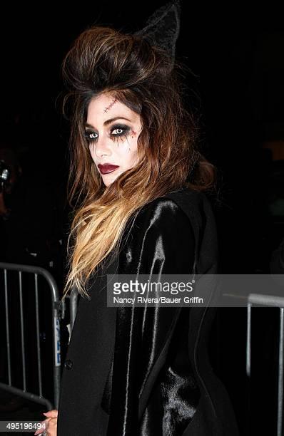 Nicole Scherzinger is seen on October 31 2015 in New York City