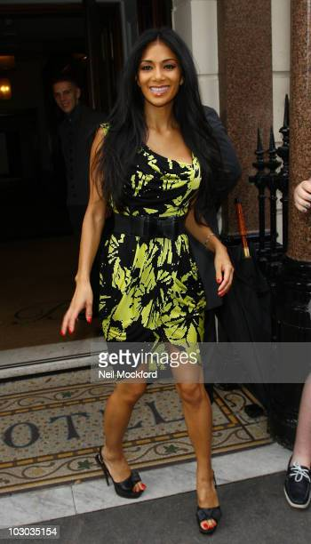 Nicole Scherzinger Is sighted leaving her hotel on July 22 2010 in London England