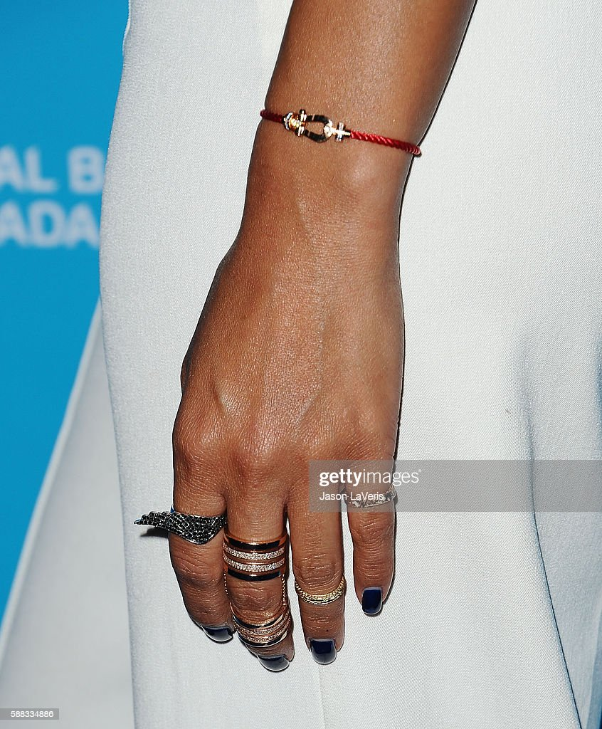 Nicole Scherzinger jewelry detail attends a special event for UN SecretaryGeneral Ban Kimoon on August 10 2016 in Los Angeles California