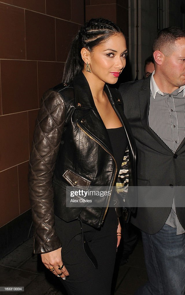 <a gi-track='captionPersonalityLinkClicked' href=/galleries/search?phrase=Nicole+Scherzinger&family=editorial&specificpeople=678971 ng-click='$event.stopPropagation()'>Nicole Scherzinger</a> leaves C London restaurant in Mayfair sighting on March 7, 2013 in London, England.